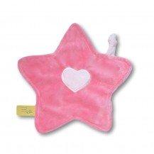 Doudou petite étoile rose bonbon rose bébé - Moncalin
