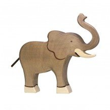Eléphant en bois - Holztiger