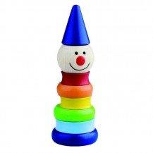 Empilable Clown coloré - Artisan Tchèque