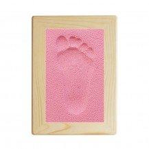 Kit d'empreinte bébé cadre rectangulaire rose - Fabricant Allemand