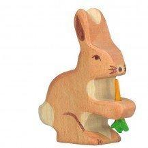 Lapin et sa carotte en bois - Holztiger