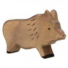 Sanglier en bois - Figurines Holztiger