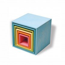 Grands cubes Gigognes pastel à empiler - Grimm's