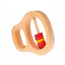 Hochet 5 anneaux rouges - Grimm's