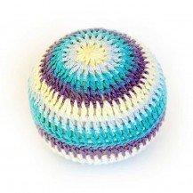 Hochet balle XXL en crochet - bleu - Fabricant Espagnol