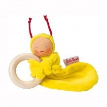 Hochet biologique Rainbow jaune - Käthe Kruse