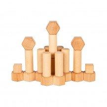 Jeu de construction naturel - 75 pièces - Goki Nature