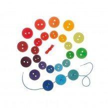 Jeu de lacage grands boutons colorés - Grimm's