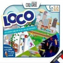 Loco - Jeu de parcours et de loisir créatif - COQ6GRUE
