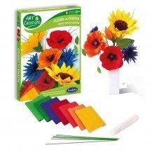 Kit de créations Fleurs en crépon - Sentosphère