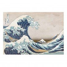 Micro Puzzle en bois Great Wave off Kanagawa - 40 pièces - Wentworth