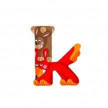 Lettre en bois pour prénom K