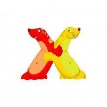 Lettre en bois pour prénom X