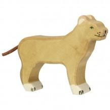 Lionne en bois Holztiger