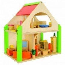 Maison de poupées en bois 2 étages - Nemmer
