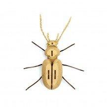 Insecte en bois et cuir - Chatouillus - Agent Paper