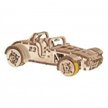 Puzzle 3D - Roadster - Wooden City