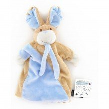 Doudou Marionnette Lapin bleu - Mailou Tradition