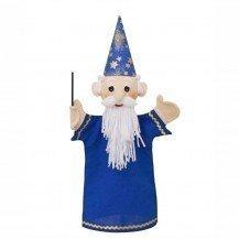 Marionnette magicien bleu 36 cm - Fabricant Tchèque