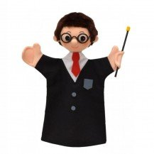 Marionnette magicien à lunettes 27 cm - Fabricant Tcheque