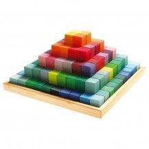 Maxi pyramide colorée à construire - Grimm's