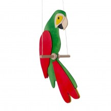 Mobile Grand perroquet - Ara vert 30 cm - Fabricant Allemand