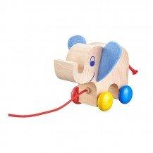 Mon éléphant en bois à traîner - Selecta