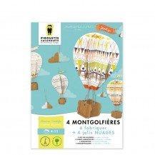 Montgolfières et Nuages à construire - Pirouette Cacahouète
