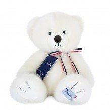 L'Ours français - Blanc poudré 35 cm - Maïlou Tradition