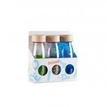 Pack de 3 bouteilles sensorielles - Sound Coccinelles, Boutons et Poissons - Petit Boum