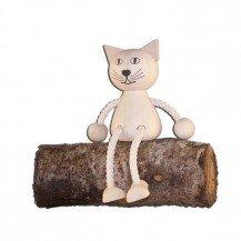 Pantin en bois Chat - Artisan du Jura