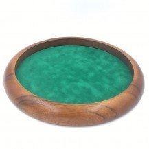 Piste de dés ronde en bois 35 cm - Artisan du Jura