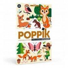 Poster découverte en stickers - Dans la Forêt - Poppik