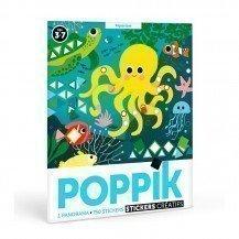 Mosaïque en stickers Aquarium - Poppik