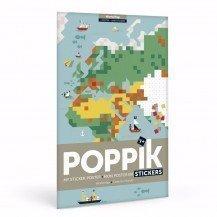 Poster en stickers Poppik Carte du Monde - Poppik