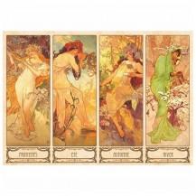 Puzzle 1000 pièces Alfons Mucha - Les 4 saisons- DTOYS