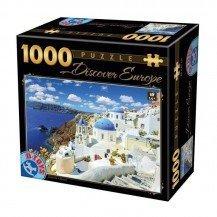 Puzzle 1000 pièces Grèce - Santorin - DToys