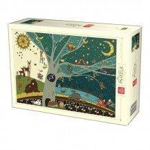 Puzzle 1000 pièces Nature Collection - Nuit et jour - DToys