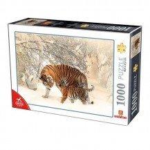 Puzzle 1000 pièces - Tigres - D-toys