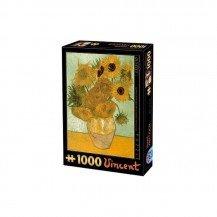 Puzzle 1000 pièces Van Gogh - Les Tournesols - DToys