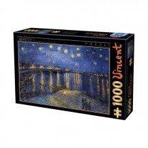 Puzzle 1000 pièces Van Gogh - Nuit étoilée sur le Rhône - DToys