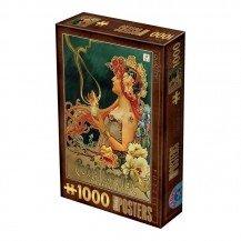 Puzzle 1000 pièces Vintage - Chocolat Carpentier - D-Toys