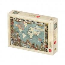 Puzzle 1000 pièces - Carte Vintage - Deico Games