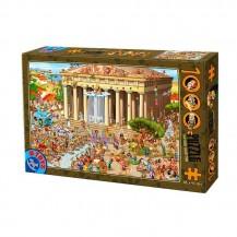 Puzzle 1000 pièces Cartoon Collection - L'Acropole - DToys