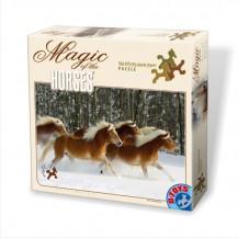 Puzzle spécial 239 pièces - Difficile - Cheval Haflinger  - DToys