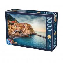 Puzzle 1000 pièces Italie - Manarola Cinque Terre - DToys