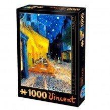 Puzzle 1000 pièces  Van Gogh - Terrasse du café le soir - D-Toys