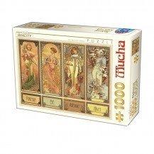 Puzzle 1000 pièces  Alphonse Mucha - Les quatre saisons - D-Toys