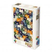 Puzzle 1000 pièces Kürti Andrea - Chats - D Toys
