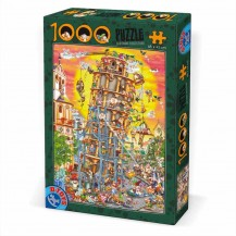 Puzzle 1000 pièces Cartoon Collection - Tour de Pise - DToys